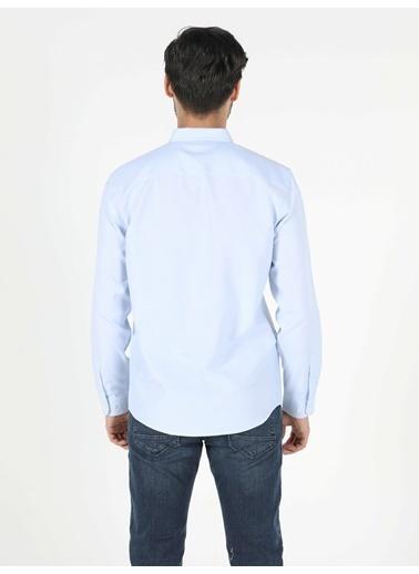 Colin's Regular Fit Shirt Neck Erkek Açık Mavi Uzun Kol Gömlek Mavi
